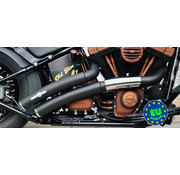 BSL exhaust EURO 3 approved HOT SHOT model Rainbow Flatside Fits:> 1984 2017 Softail except FXCW FXCWC and FXSB
