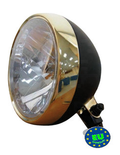 headlight black and bronze