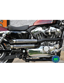 exhaust EURO 3 approved HOT SHOT model Drager Dragg Ripp Fits:> 2004-2013 Sportster XL