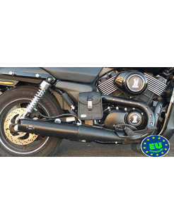 Slip-on with Tapered Slashed end caps, Fits 2015 to present XG500 and XG750 Street