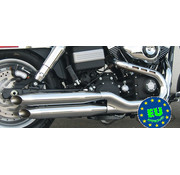 MCJ Slip-on-Schalldämpfer Königlichen Passend 2006-2017 Dyna FXDF, FXDLS & FXDWG Modelle