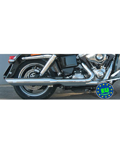 Harley exhaust Slip-on mufflers Royal Fits FLD Switchback or FXDL Low Rider except FXDLS