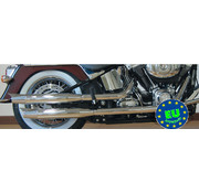 MCJ exhaust Slip-on mufflers Royal Fits:> Softail 2007 to present FXSTB FXSTC & FLSTC
