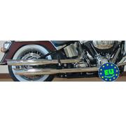 MCJ Slip-on-Schalldämpfer Royal, für Softail Modelle von 2007 bis heute FXSTB, FXSTC & FLSTC