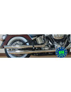 Harley exhaust Slip-on mufflers Royal, fits 2007-UP FLS, FLSTN & FLSTSB