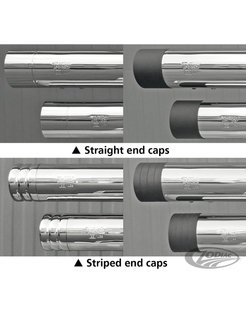 Harley exhaust End caps for Edition 100 Style mufflers