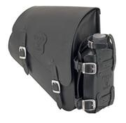 Texas leather Sac en cuir noir avec des boucles mat, le matériel de montage