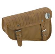 Texas leather Sportster Eco-Line sacoches latérales noir ou marron - avec rayures verticales surpiqûres