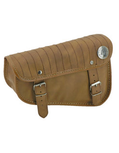 Engine   Sportster XL Eco-Line side bags Black or Brown - with vertical stripe stitching