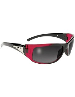 Goggle / Sunglasses Black/Red Frame with Smoke Lenses