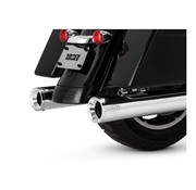 Vance and Hines exhaust Eliminator 400 slip-ons Chrome or Black - Fits:> 2017 Touring FLH/FLT