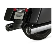 Vance and Hines exhaust Oversized 450slip-ons Chrome or Black - Fits:> 2017 Touring FLH/FLT