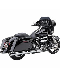 exhaust NH Series slip-ons Chrome or Black - Fits:> 2017 Touring FLH/FLT