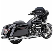 Cobra exhaust Powr-Flo Slip-ons Chrome or Black - Fits:> 2017 Touring FLH/FLT