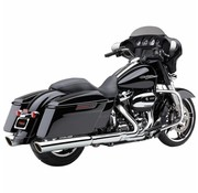 Cobra exhaust 909 2 into 2 Slip-ons Chrome or Black - Fits:> 2017 Touring FLH/FLT