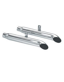 exhaust Mufflers Turn Out - Fits:> Evolution Softail FLSTF Fat Boy & FLSTN Nostalgia 1990 - 1999