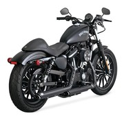 Vance and Hines Twin Slash 3 inch Mufflers Black or Chrome - Fits:> 14-18 Sportster XL