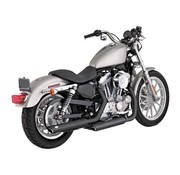 Vance and Hines exhaust Twin Slash 3 inch Mufflers Black or Chrome - Fits:> 04-13 Sportster XL