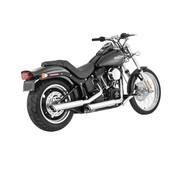 Vance and Hines Harley exhaust Twin Slash 3 inch Mufflers Chrome - Fits: > 07-16 Harley Softail FLSTC; 07-16FXST/B/C; 08-11(NU)FXCW/C; 10-13FLSTSE; 13-16 FXSB