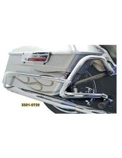 crash bar - engine guard Bagger tail bag Guard Chrome: Fits:> 08‑17 FLST with Bagger‑Tail