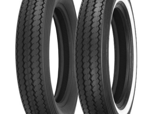 Shinko motorcycle tire MT 90 H 16 inch E240 74H tube type Black or with Single white stripe