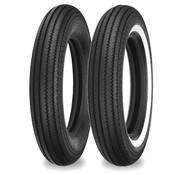 Shinko motorcycle tire 4.50 H 18 E270 70H Black or Single white stripe