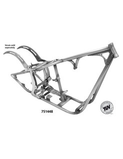 Softail style dual straight down tube frames