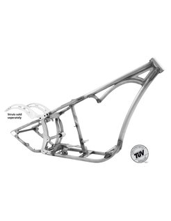 Softail style single curved down tube frames - for Evolution engines