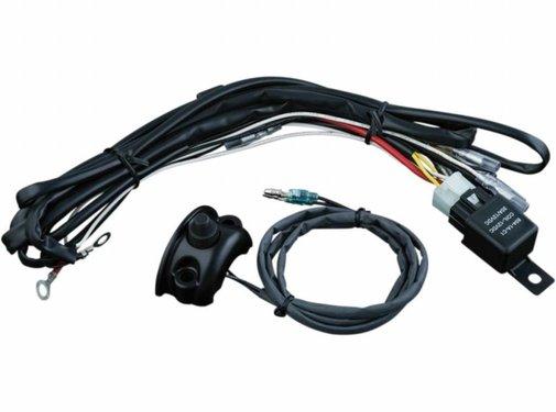 Kuryakyn Kabel Fahrlicht Verdrahtungs- / Relaiskit Steuerung montiert Passend für:> 96-16 HD (ohne. 15-16 FLTRSX / S FLTRU FLHX / S)