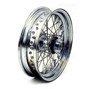 wheel front 40 Spoke 3.00 X 16 Dual flange - Fits:> 73-83 FL FX