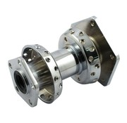 MCS wheel rear dual flange hub Chrome - Fits:> 86-99 FLT/ Touring FLH/FLT