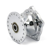 MCS wheel front hub Chrome plated aluminum - Fits:> 74-77 XL ironhead