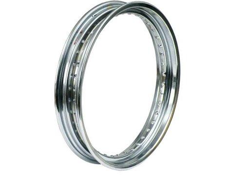 MCS 40 Spoke Dropcentre rim - 2.50 X 19 Inch - Chrome, Fits: > 73-99 XL; 73-80 FX