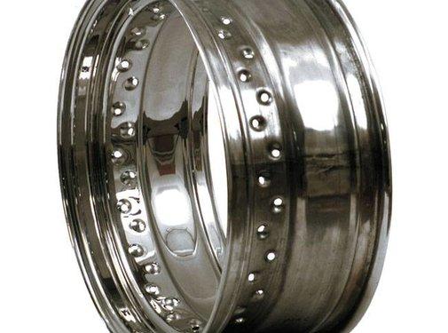 MCS wheel Rim 40 Spoke dropcentre - 4.5 X 16 Inch - Chrome