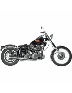 Harley exhaust Chrome drag pipes and headpipes for swingarm Shovelhead 66-69 (Discontinued item only 1 left in stock)
