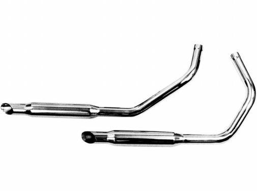 Paughco exhaust Chrome staggered dual muffler sets for 57-85 Sportster XL (except 79)