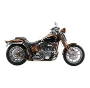 Paughco exhaust Chrome 2 inch dump pipes : Fits:> 86-16 Softail (exclude. 08-11 CVO FXCW/C)