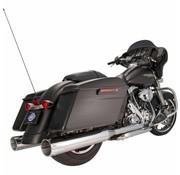"""S&S Power Tune Muffler 4.5 """"Slip-On MK45 Chrome Tracer End Cap Chrome Body Finish - Passend für:> 07-16 Touring Modelle"""