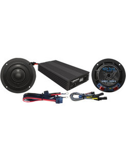 Luidspreker / versterker kit 400 Watt, Voor:> 14-17 FLHX modellen