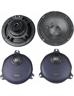 Harley audio Rokker rear Speakers kits, Fits:> 14‐17 FLHT/​FLHX (except Twin Cooled  )