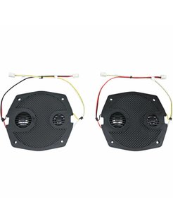 audio  RokkerFairing/Rear Speakers Grilles Fits:> 98‐13 FLHT/​FLHX