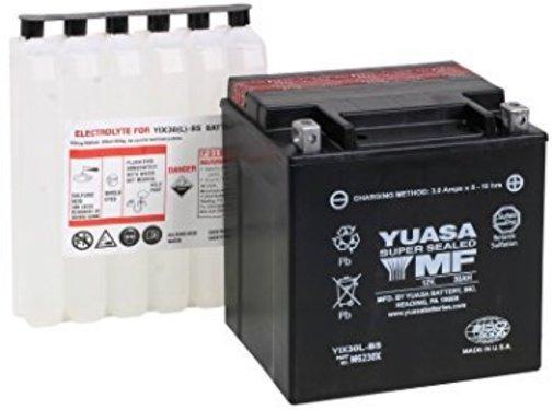 Yuasa batterie AGM Maintenance Free YUAM6230X Fits:> 97‐17 FLT/FLHT/FLHX/ FLHR/FLTR and H‐D FL Trikes