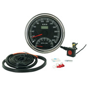 Zodiac speedo tacho cable driven electronic Fits:> most Fat Bob style dashes 1947 - 1995.