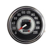 MCS speedo  Black face 1941-1945 Style in KM/h: transmission driven