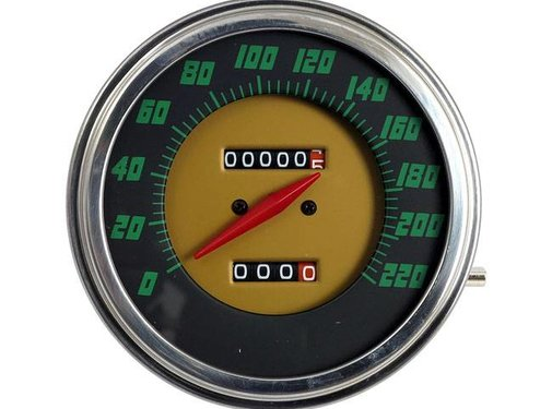 MCS speedo  Green face 48-61 Style in KM/h: transmission driven