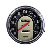 MCS speedo  Black/Gold face 1962-1967 Style in KM/h: Front Wheel driven