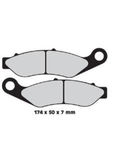 Front brake pad organic: For 14-17 FLHTCUTG, 15-17 FLRT