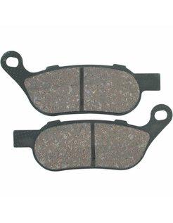 Rear brake pad organic: For 08-17 FXD/FXDC/FXDB/FXDL/FXDWG; 08-17 FXS/FXSTB/FXSTC/FLS/ FLSTF/FLSTN/FLSTC/FXCW/FXCWC/FLSTFB/FLSTSB