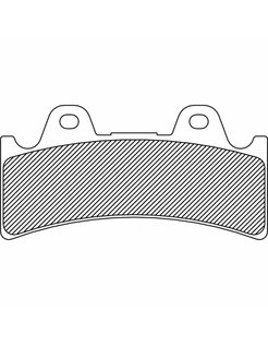 brake pad Rear/Front organic: for 4-Piston (J-Four) 6‐piston (J‐SIX)