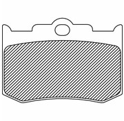 brake pad Rear/Front organic: for PM Calipers